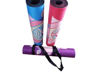 Durable Natural Foam Rubber Yoga Fitness Mat with Lotus Design pictures & photos