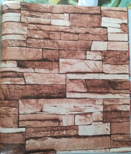 106cm Wide Width Home Decoration Cheap Brick Wallpaper 3D PVC pictures & photos