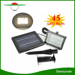 45 LED Waterproof Garden Floodlight Solar Powered Outdoor White/ Warm White/ Green LED Flood Light pictures & photos