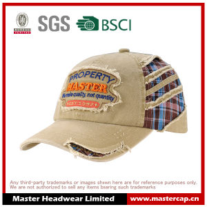 Applique Embroidery Soft Panel Fashion Wash Hat