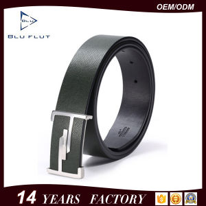 Custom Logo Buckle Genuine Leather Men′s Waist Belt pictures & photos