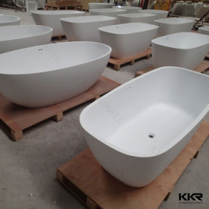 China Supplier Sanitary Ware Modern Solid Surface Jacuzzi Bathtub pictures & photos