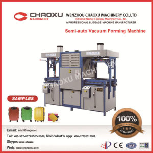 Semi Auto Upper-Lower Double Heating Vacuum Forming Machine pictures & photos