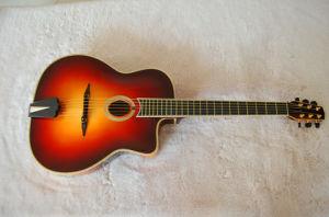 Sunbrust Color Beautiful Fully Handmade Acoustic Guitar