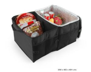 Custom Folding Car Trunk Organizer Bag with Cooler Compartment pictures & photos