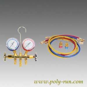 2-Valve Brass Refrigerant Manifold Pressure Gauges (PR6001A) pictures & photos