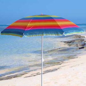 Portable Rainbow Color Beach Umbrella (OCT-BUN13) pictures & photos