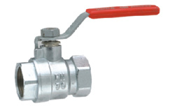 Zinc-Alloy Ball Valve with Nickel Surface pictures & photos