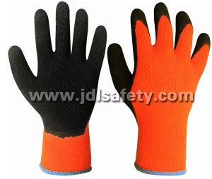 Acrylic Work Glove with Black Natural Latex Coating (LY2026T) pictures & photos