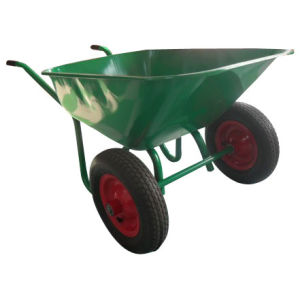 Big Tray Double Wheel for Wheel Barrow (Wb8700) pictures & photos