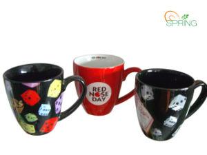 14oz Stoneware Color Mug with Designs (SPMUG0022)
