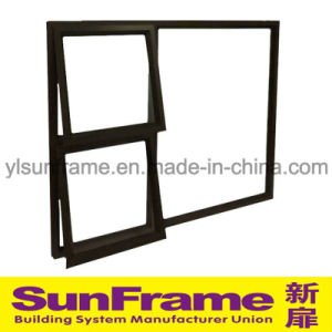 Aluminium Double Top-Hung Window Wall System pictures & photos