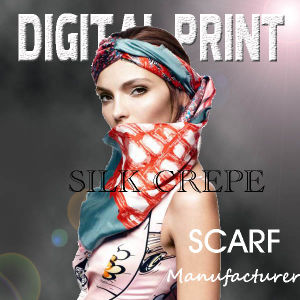 2017 Printed Satin Scarf pictures & photos