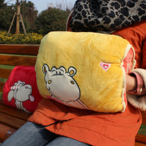 Plush and Stuffed Hand Warmer or Muff, Hand Cushion and Back Pillow, 35x25cm
