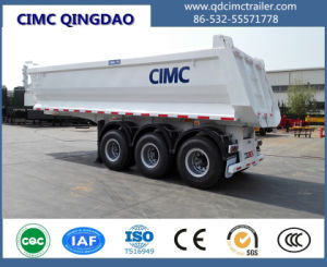 Cimc 25cbm End Tipper Semi Trailer for Sale Truck Chassis pictures & photos