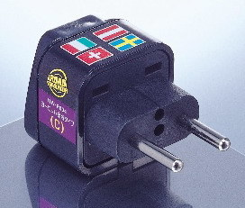EU (European Union) Plug Adapter (Ungrounded, Inlay)