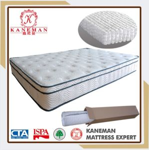 Luxury Rolling Euro Pillow Top Pocket Spring Mattress pictures & photos