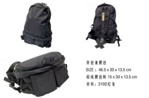 Promotional Canvas Linen Foldable Backpack to Be Waist Bag