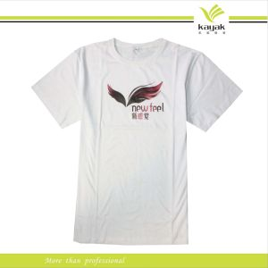Custom 100% Organic Cotton Print White T-Shirt (R-19)