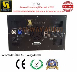 D3-2.1 Stereo Plate Amplifier with DSP for 2.1 Channel Home Theater System pictures & photos