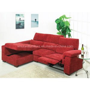 Modern Fabric Corner Sofa with Recliner and Storage, Living Room Sofa (WD-6363)