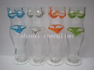 Hand Painted Bikini Beer Glass (B-766abcd) pictures & photos