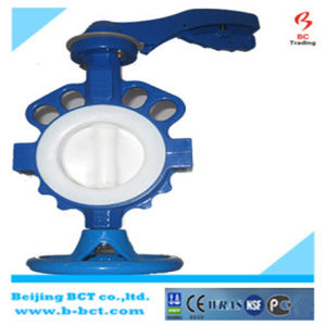 Casting PTFE Liner Butterfly Valve pictures & photos
