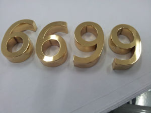 Exterior Building Business Steel Fabricated Plated Etched Brass Titanium Channel Letters pictures & photos
