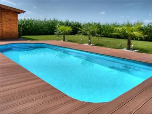 Wood Plastic Composite Project Decking Antislip and Waterproof Flame-Proof and Insect-Proof New Technology Similar to Natural Wood Export to France Germany