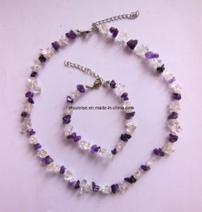Semi Precious Stone Gemstone Crystal Jewelry Fashion Accessories Sets <Esb01362> pictures & photos