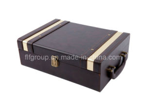 Gift Package Classical Design Wholesale Leather Wine Box (FG8012) pictures & photos