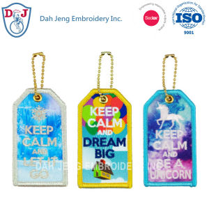 Embroidery Luggage Tags with Sublimation - Keep Calm pictures & photos