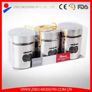 Wholesale Stainless Steel Storage Set Glass Jar with Lid pictures & photos