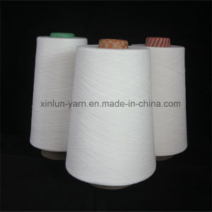 Ne30/1 100% Spun Polyester Yarn for Knitting Waxed pictures & photos