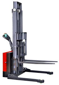 Economic Electric Stacker with Adjustable Wide Leg