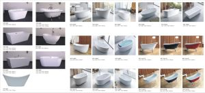Free Standing Solid Surface Stone Bathtub with Low Price pictures & photos