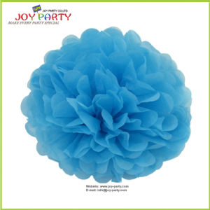 Sky Blue Paper POM Poms for Home Decoration