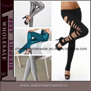 Wholesale Women Fashion Cut-out and Printing Leggings Pants pictures & photos