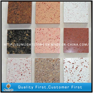 Customized Engineered Artificial White/Blue/Grey/Black Colors Quartz Floor Tiles pictures & photos