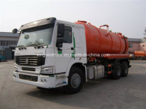 Sinotruk Brand Suction Sewage Truck for 6X4 Driving/Garbage Truck with 6X4 Driving Type pictures & photos