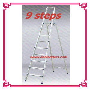 Aluminium 9 Step Ladder / Extension Metal Ladder pictures & photos
