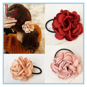 Fashion Women Rose Flowers Elastic Hair Bands pictures & photos