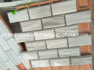 Grey Wooden Marble Strip Tile Mosaic pictures & photos