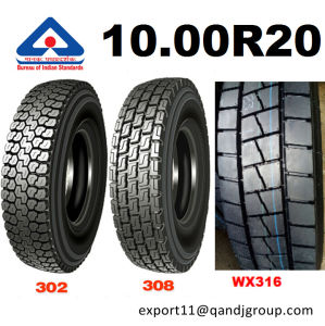 Truck Tire 10.00r20 Kunyuan Wx316 with Bis Tire for India Market pictures & photos
