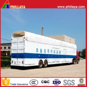 Auto Vehicle Transporter Enclosed Car Carrier Trailer with Air Suspension pictures & photos