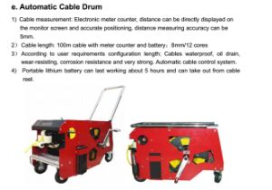 Multifunctional Pipe Robot Crawler with Pan / Tilt Camera, 100m Testing Cable pictures & photos