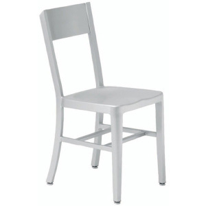 Aluminum Restaurant Brushed Flat Back Chairs (LD-OC00003)