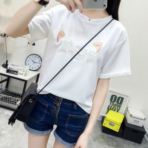 All-Match Fashion Floral Cartoon Graphic Summer Cropped Women Bottoming Shirt pictures & photos