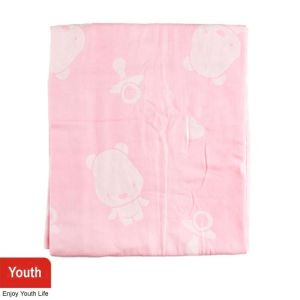Plain Baby Towel with Cute Pattern
