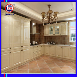 2015 Europe Style PVC Kitchen Cabinet (ZH021) pictures & photos